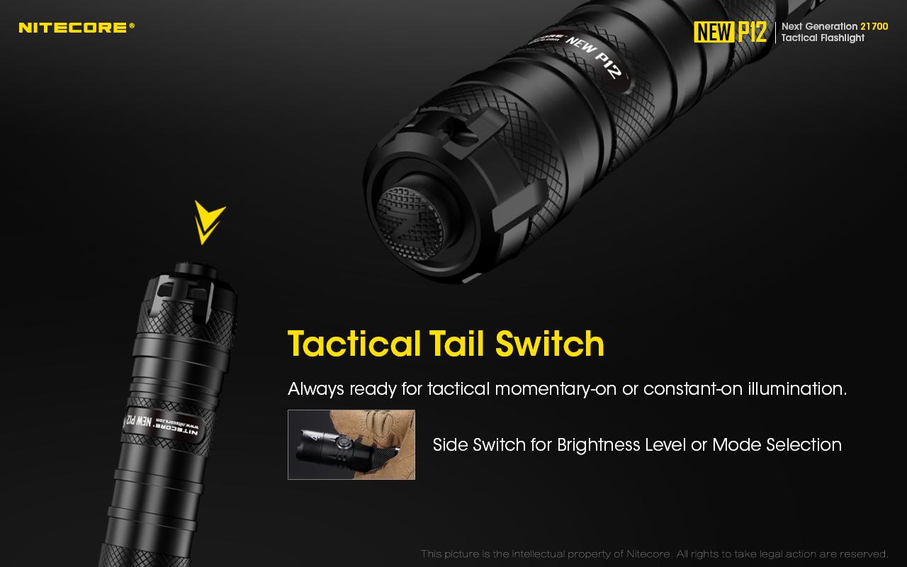 NTH10 Ho 1200 Lumens GlobalShipping-Nitecore NEW P12 Tactical LED Flashlight